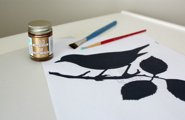 Create Your Own Gold Gilded Bird Art