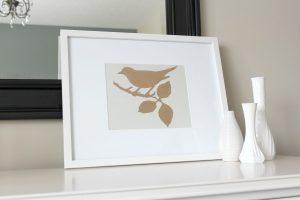 DIY Gold Gilded Bird Art - Satori Design for Living