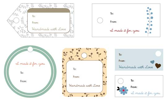 Free Handmade Printable Gift Tags - Sew Mama Sew