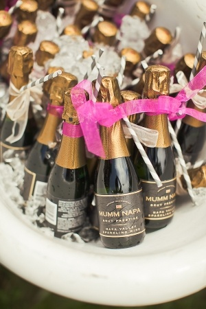 Champagne with Straws - Ruffled Blog - Photo by Orange Turtle Photography