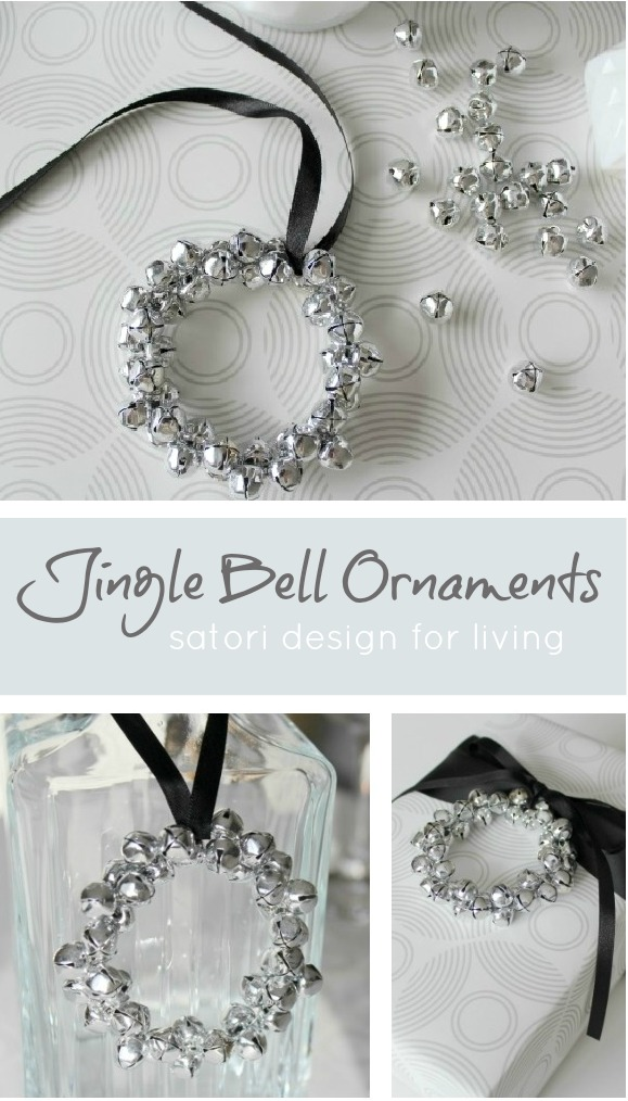DIY Jingle Bell Wreath Christmas Ornaments - Satori Design for Living