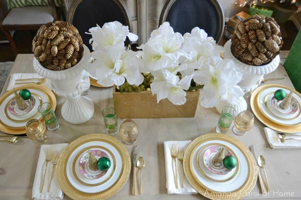 Emerald Green Christmas Tablescape- Amanda Carol
