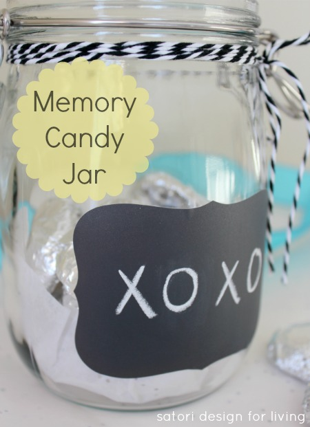Handmade Gift Idea for Grandparents - Memory Candy Jar