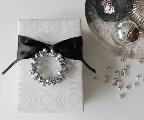 DIY Jingle Bell Wreath Gift Embellishments | Satori Design for Living