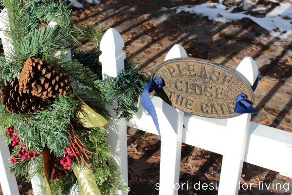 Christmas House Tour - Decorated Exterior Gate