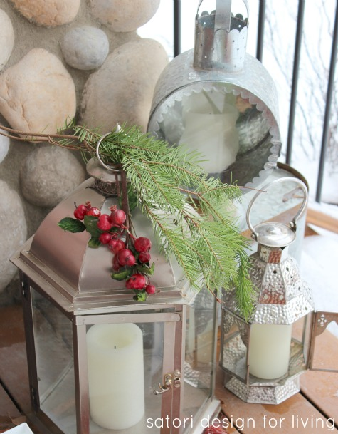 Christmas House Tour- Decorated Back Porch