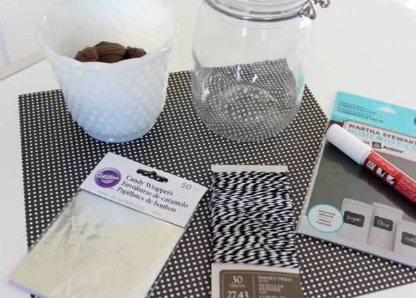 Handmade Gift Idea for Grandparents - DIY Memory Candy Jar Supplies