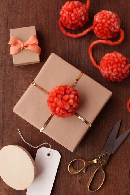 Handmade Pom Pom Gift Embellishment - Minted.com