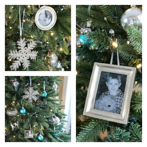 Silver, White and Turquoise Christmas Tree