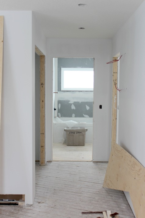 Bungalow Renovation- Hallway and Bathroom