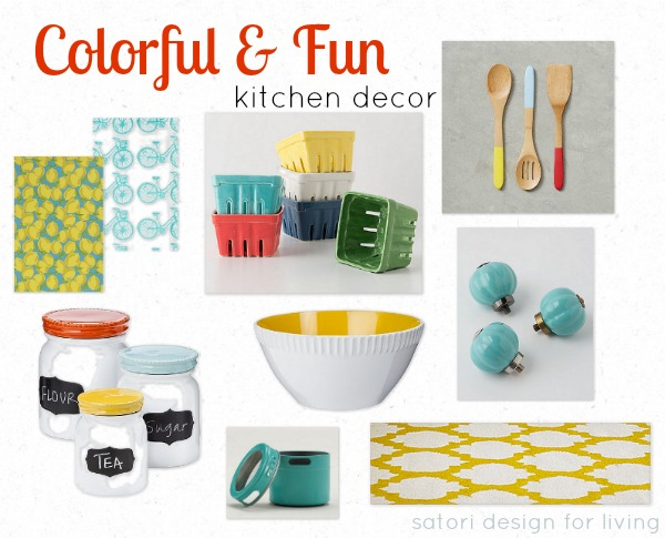 Colorful and Fun Kitchen Decor - Satori Design for Living