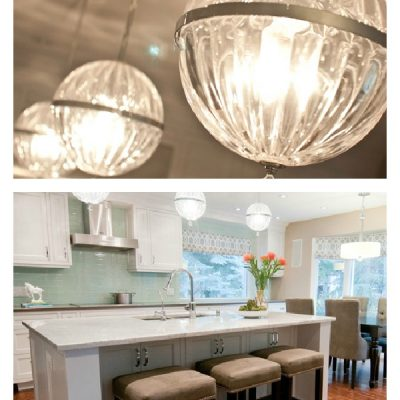 Bang for your buck kitchen updates- adding pendants- Kitchen by Aly Velji Design