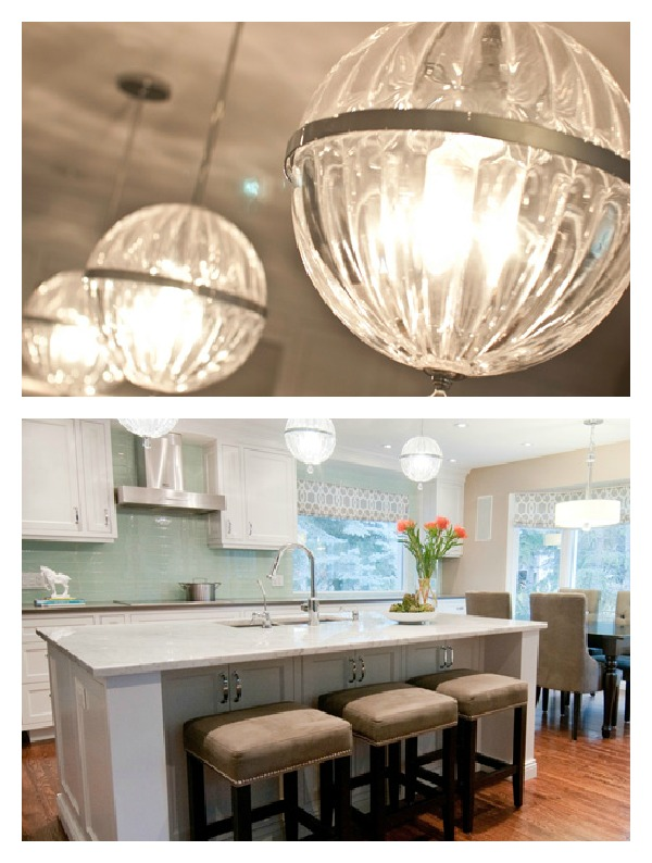 Bang for your buck kitchen updates- adding pendants- Kitchen by Aly Velji Design