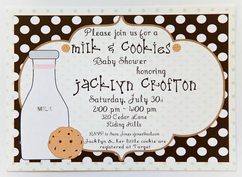 Milk & Cookies Invitation
