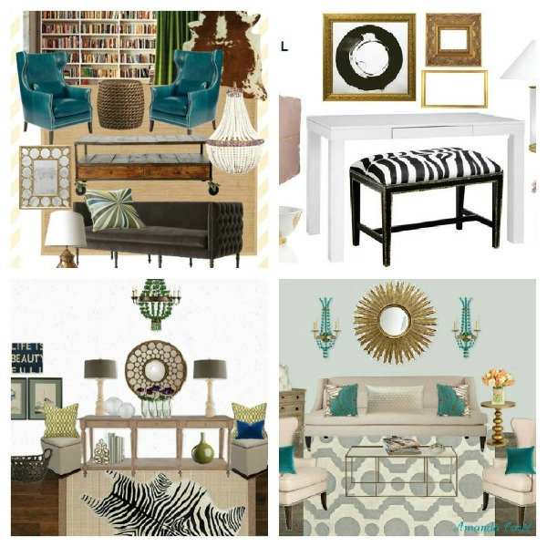 Designer Challenge is a fun series where home bloggers are tasked to select 1 of 3 decorative accessories or pieces of furniture, then create an entire mood board around it.