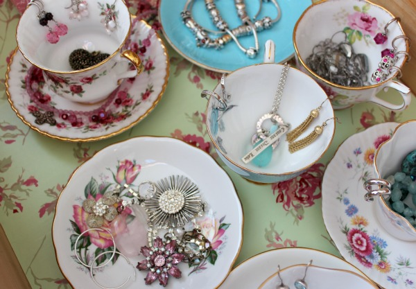 Teacup Jewelry Organization- Satori Design for Living
