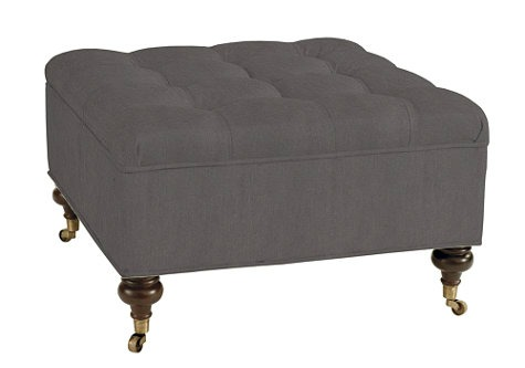 Square Tufted Storage Ottoman- Ballard