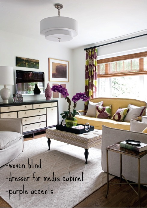 Tips for Moving Forward on a Decorating Project - Living Room via Style at Home Magazine