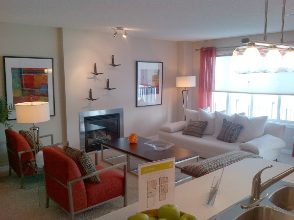 Weston Showhome Living Room - Airdrie