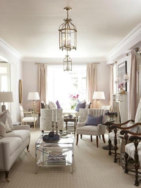 Pale Lavender Living Room by Sarah Richardson