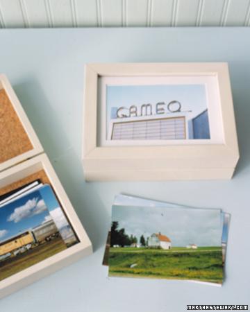 Displaying Vacation Mementos - DIY Vacation Photo Keeper - Martha Stewart