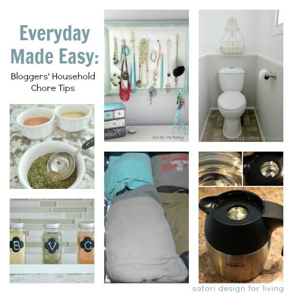 Household Chore Tips- Make the Everyday Easier {Satori Design for Living}