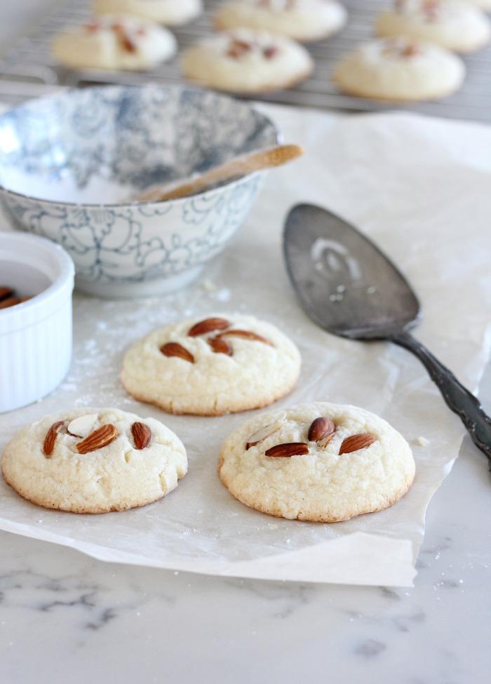 Baking Gluten Free Greek Almond Cookies - Gluten Free Kourabiedes