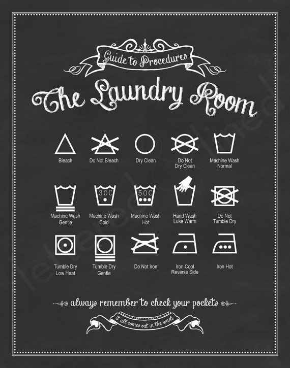 Laundry Room Print - Lettered and Lined on Etsy