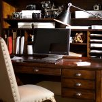Distressed Wood Desk and Hutch - Pottery Barn