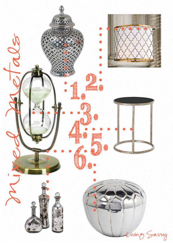 decorating with mixed metals