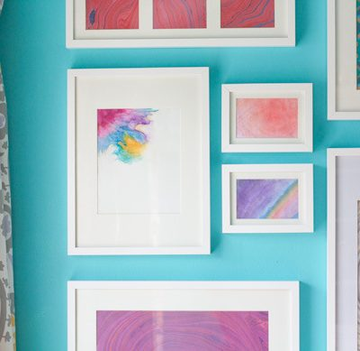 Budget-friendly Ideas for Decorating Your First Apartment - Create Your Own Watercolor Artwork - Glitter & Goat Cheese