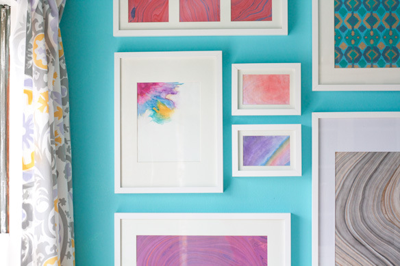 Decorating Your First Apartment- Create Your Own Watercolor Artwork