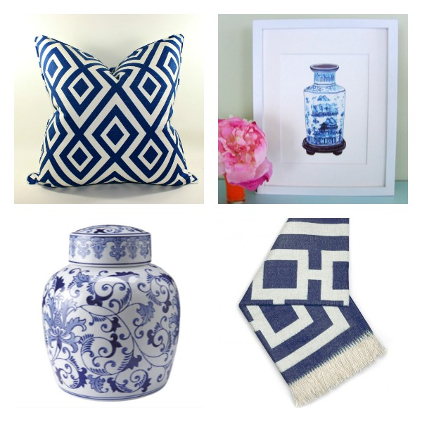 Blue & White Decorative Accessories