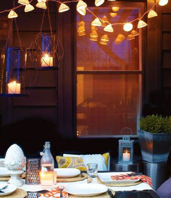 Decorating With Outdoor Lanterns - Chatelaine - Photo by Roberto Caruso