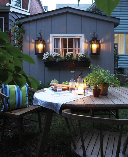 Outdoor Decorating - Hanging Outdoor Lanterns - House & Home - Michael Graydon Photography