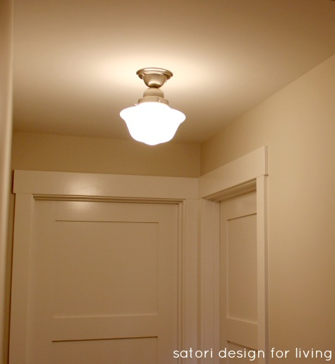 Semi-flush Schoolhouse Light Fixture - Satori Design for Living