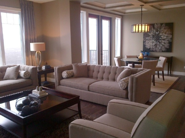 Showhome Tour- Neutral Living Room and Dining Room
