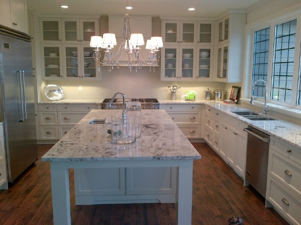 Showhome Tour- Marble and White Kitchen