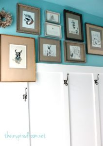 Turquoise Walls With White Paneling - The Inspired Room