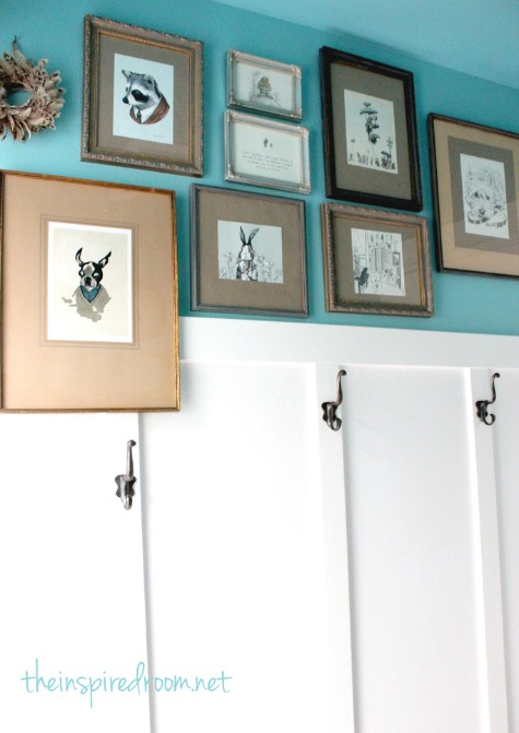 Turquoise Walls With White Paneling Below - The Inspired Room