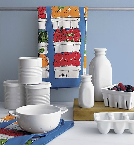 Porcelain Berry Box, Milk Bottle and Egg Crate - Crate & Barrel
