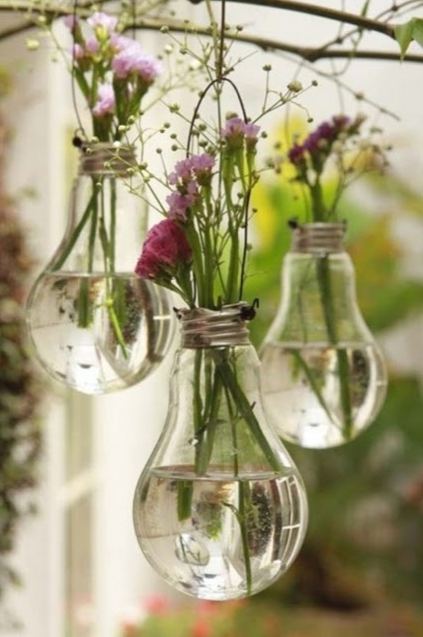 Hanging Vase Made Out of a Lightbulb