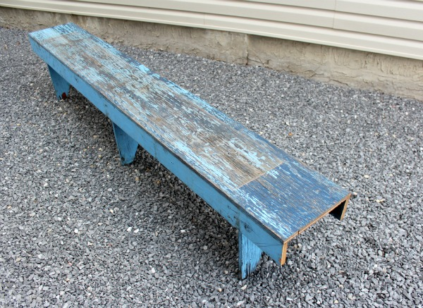 Blue Rustic Bench - Salvaged Bench - Satori Design for Living