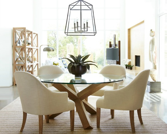 Cage Chandelier - Light Fixtures for Open Concept Dining - Horchow