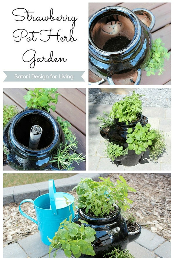How to Plant a Container Herb Garden in a Strawberry Pot - What to plant in a strawberry pot?