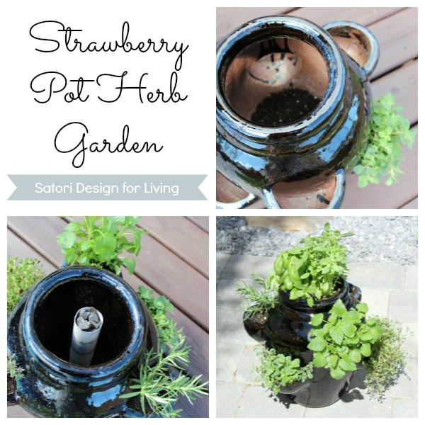 How to Plant a Strawberry Pot Herb Garden