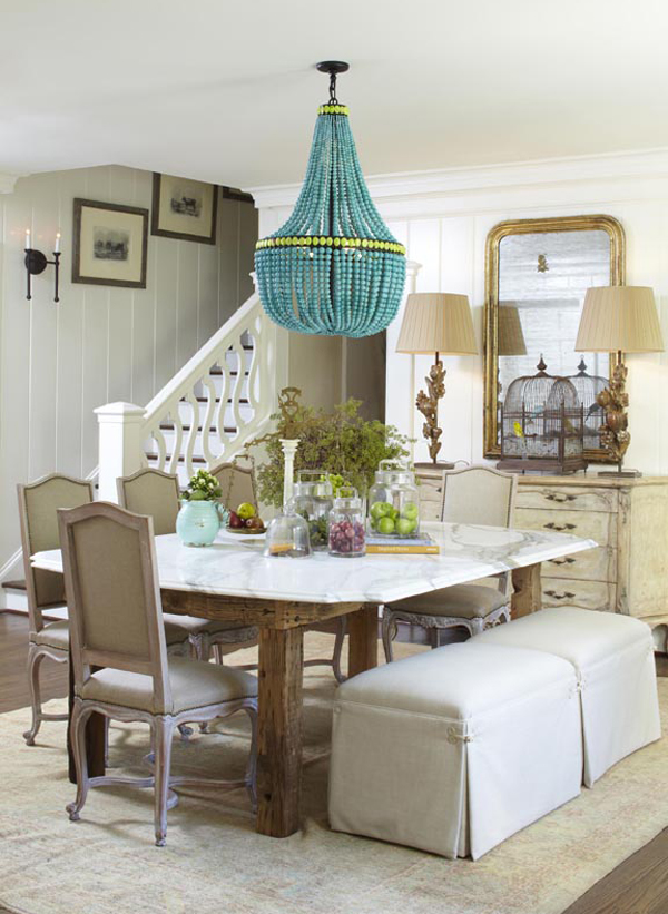 Eclectic Dining Room Furniture - Meg Adams Interior Design