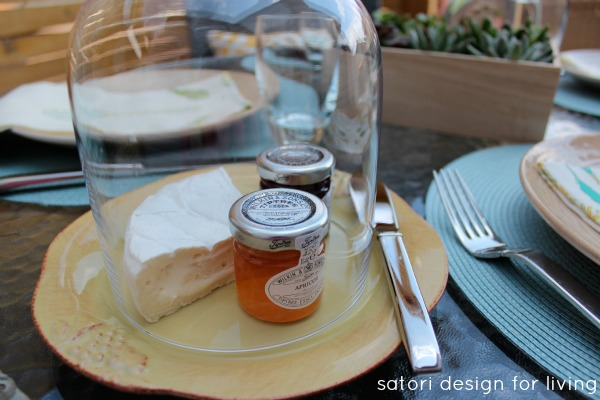 Outdoor Brunch Tablescape - Glass Cloche - Satori Design for Living