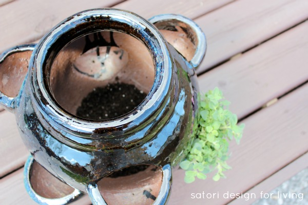 How to Plant a Strawberry Pot Herb Garden - Satori Design for Living
