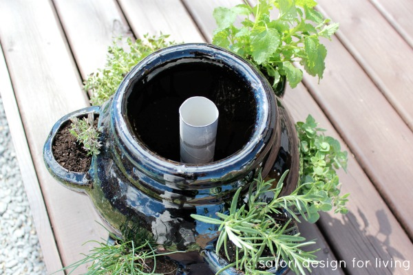 How to Plant a Strawberry Pot Herb Garden - Tips for Keeping a Strawberry Pot Moist - Satori Design for Living